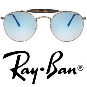 Ray-Ban • Authentic Double-Bridge Round Sunglasses
